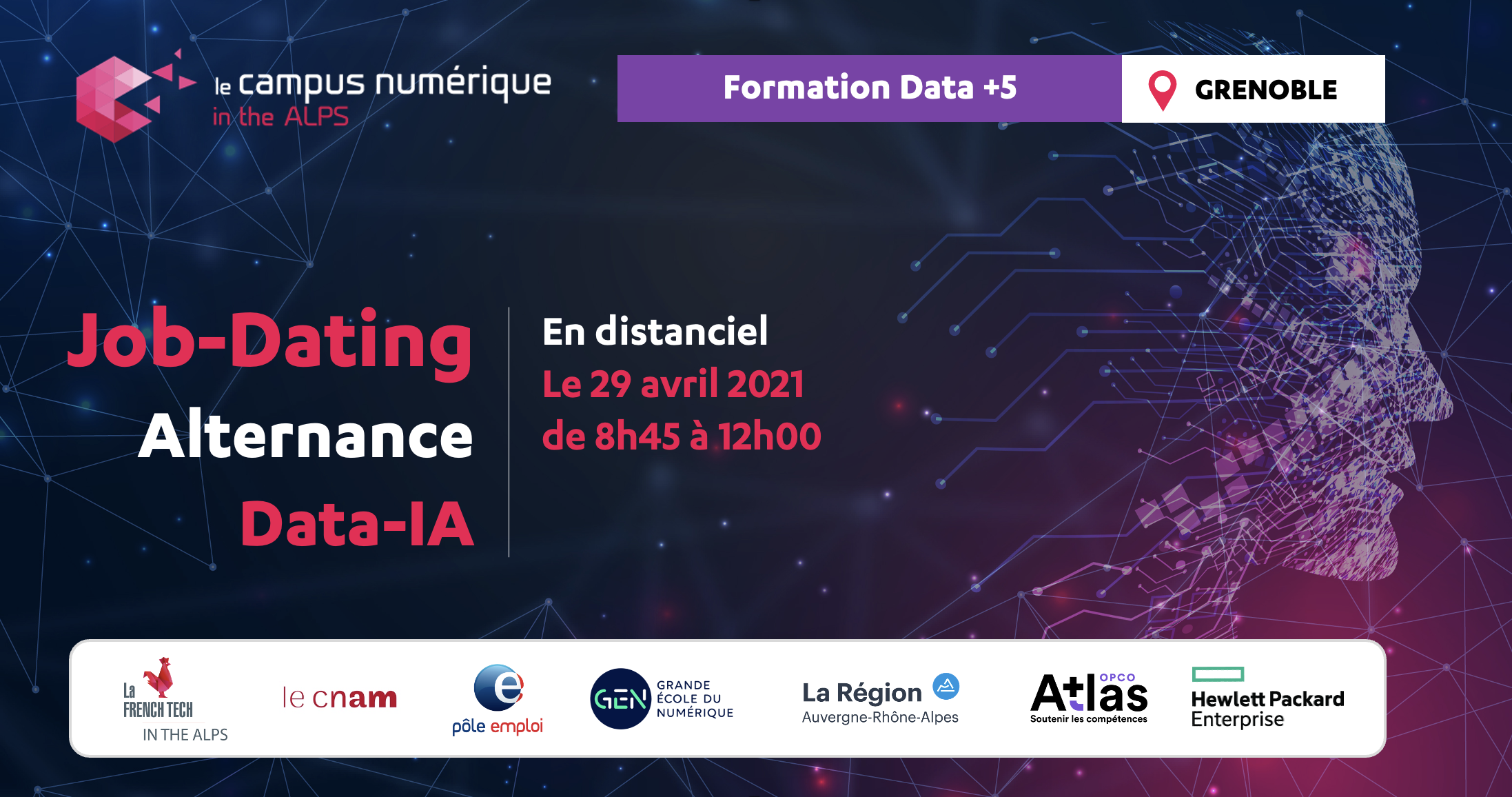 Job Dating -Alternance des Data Analyst/Scientist du Campus Numérique in the Alps de Grenoble